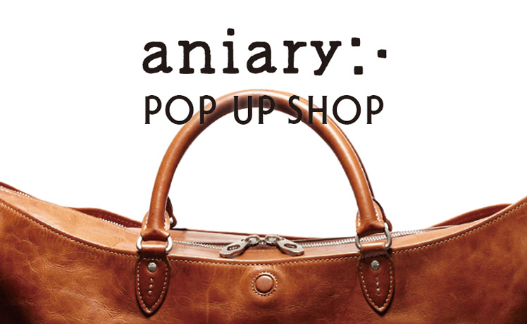 URBAN RESEARCH一部店舗にて「aniary」POP UP SHOP開催