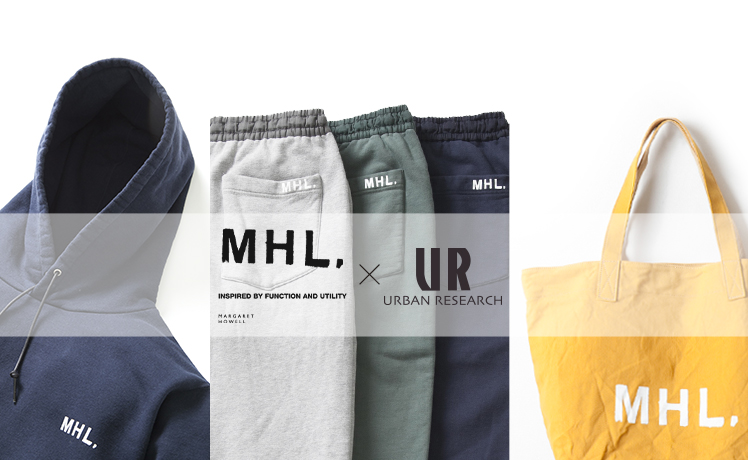 MHL.×URBAN RESEARCH 別注シリーズ最新作はスウェットセットアップ。大好評トートバッグのカラー別注も登場!