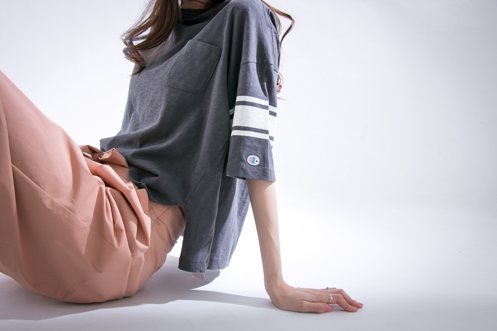 Champion×URBAN RESEARCH 別注ポケットTシャツ