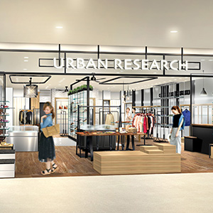 東北地方初出店 3月18日(金)<br />URBAN RESEARCH エスパル仙台店がオープン