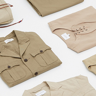 The beige for men