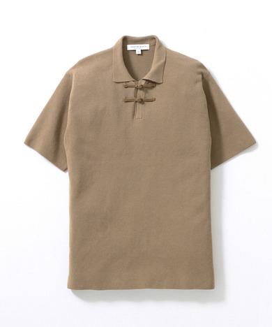 ミラノリブショートスリーブニットポロシャツ