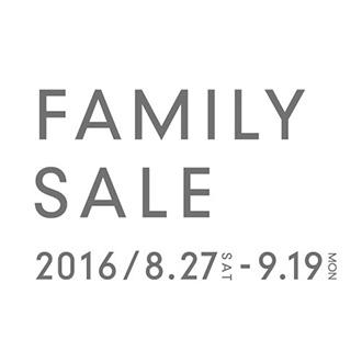 「FAMILY SALE」開催のお知らせ