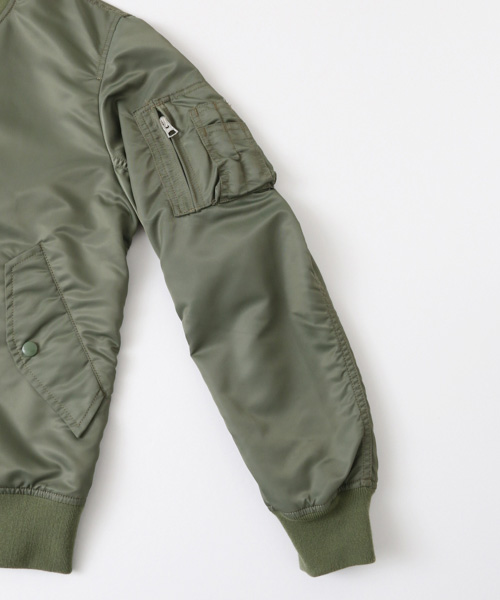 ALPHA INDUSTRIES×URBAN RESEARCH iD SOUVENIR BOMBER RVS JACKET ディティール