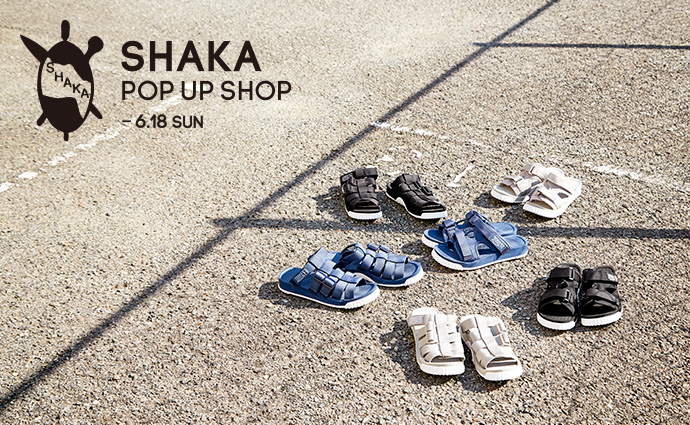 SHAKA POP UP SHOP開催