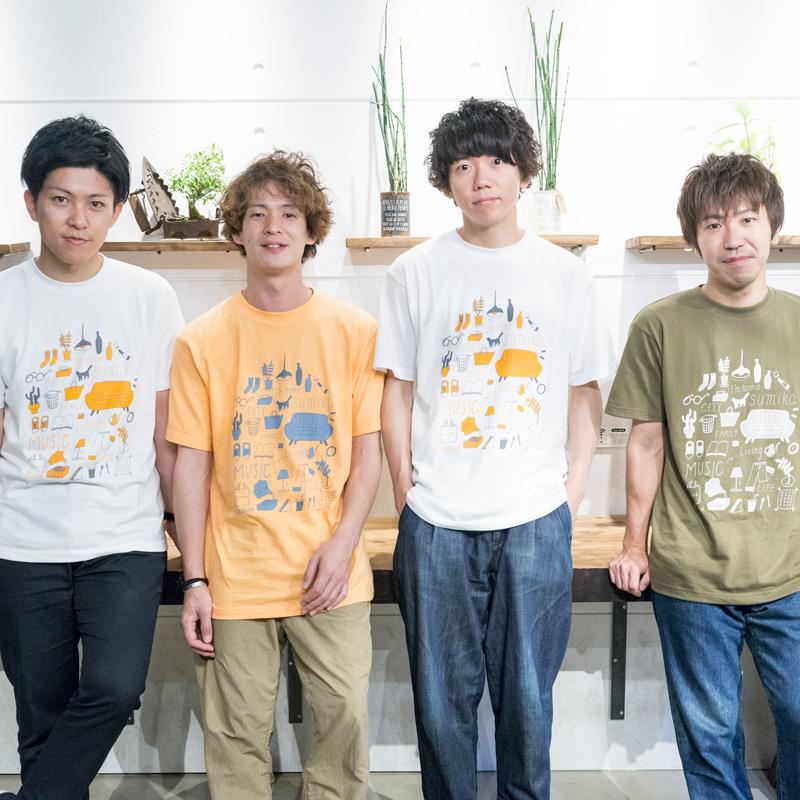 バンド「sumika」とのコラボレーションTシャツを発売
