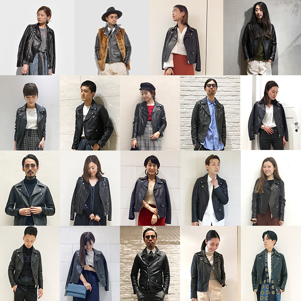 STAFF STYLE  – Leather Jacket –