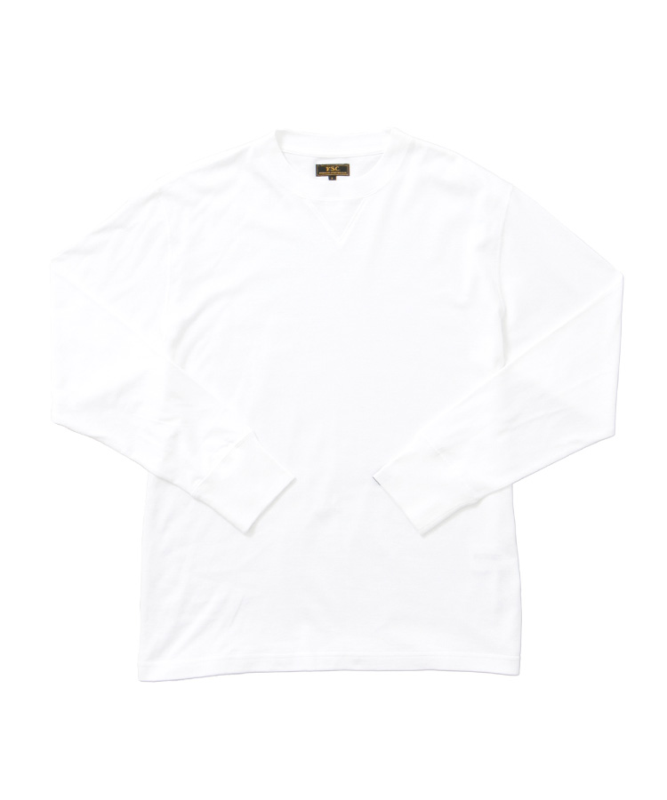 FREEMANS SPORTING CLUB × LOOPWHEELER LONG SLEEVE TEE WHITE