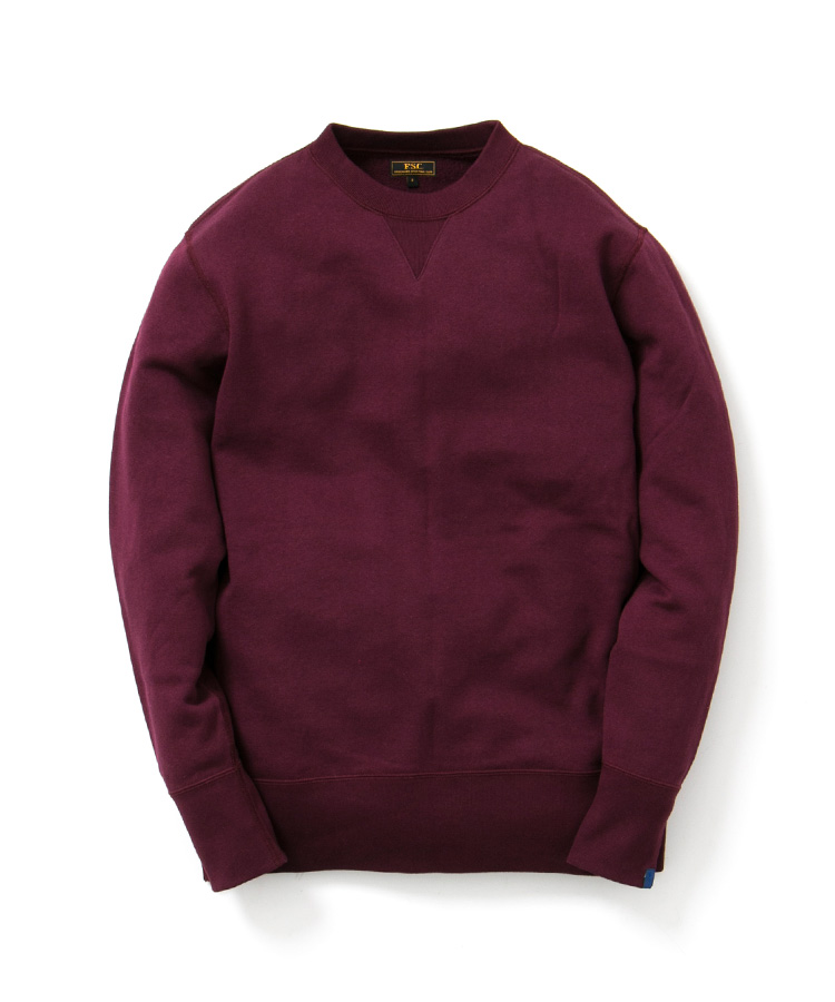 FREEMANS SPORTING CLUB × LOOPWHEELER CREW NECK SWEAT BORDEAUX