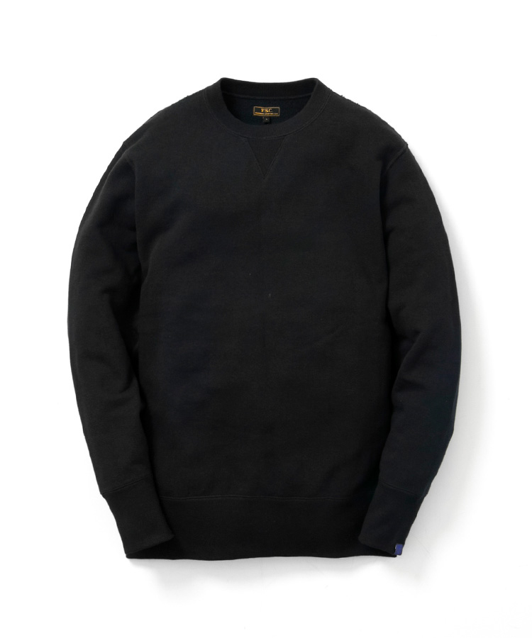 FREEMANS SPORTING CLUB × LOOPWHEELER CREW NECK SWEAT CHARCOAL