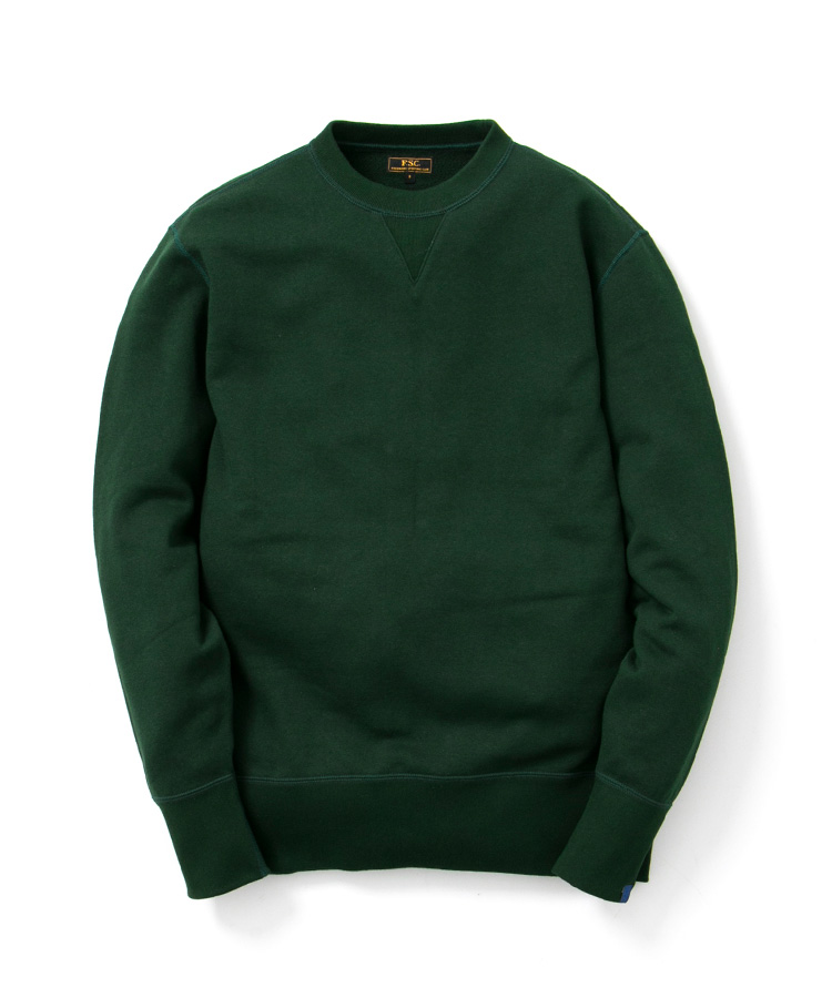 FREEMANS SPORTING CLUB × LOOPWHEELER CREW NECK SWEAT DARK GREEN
