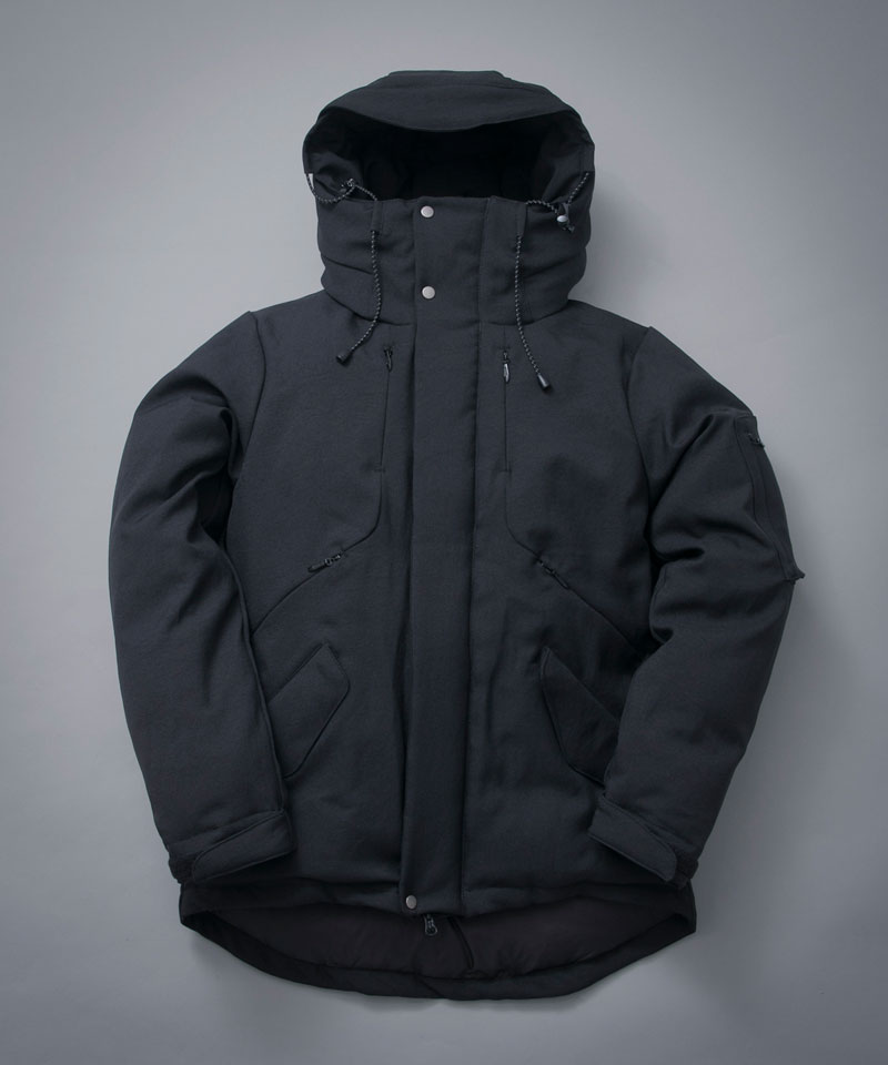 STRETCH HOOD DOWN BLOUSON