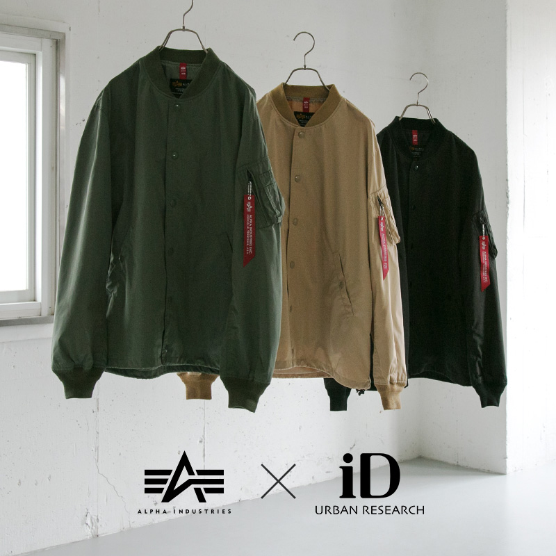 ALPHA INDUSTRIES × URBAN RESEARCH iD <br>2019 spring model「MA-1 COACH JKT」