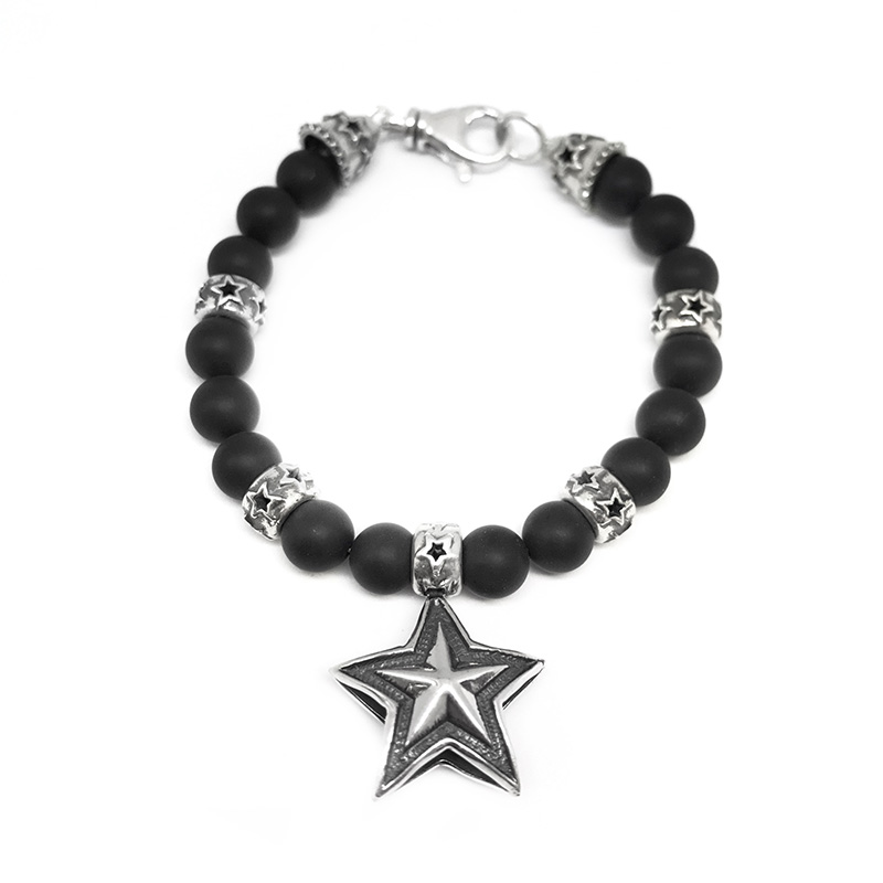 REVERSIBLE STAR MATTED BRACELET