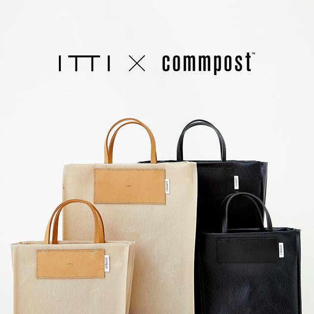 ITTI × commpost <br>デッドストック衣料をアップサイクルしたコラボトートバッグを発売